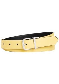 Calvin Klein Reversible Feather Edge Leather Skinny Belt