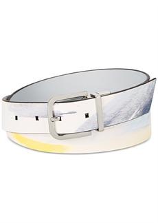 Calvin Klein Reversible Printed Leather Belt