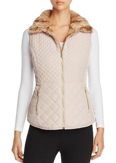 Calvin Klein Reversible Quilted Faux Fur Vest
