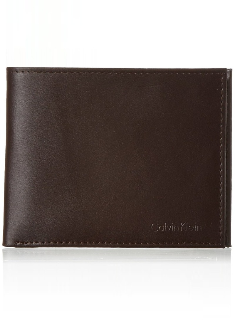 Calvin Klein RFID Blocking Leather Bifold Wallet