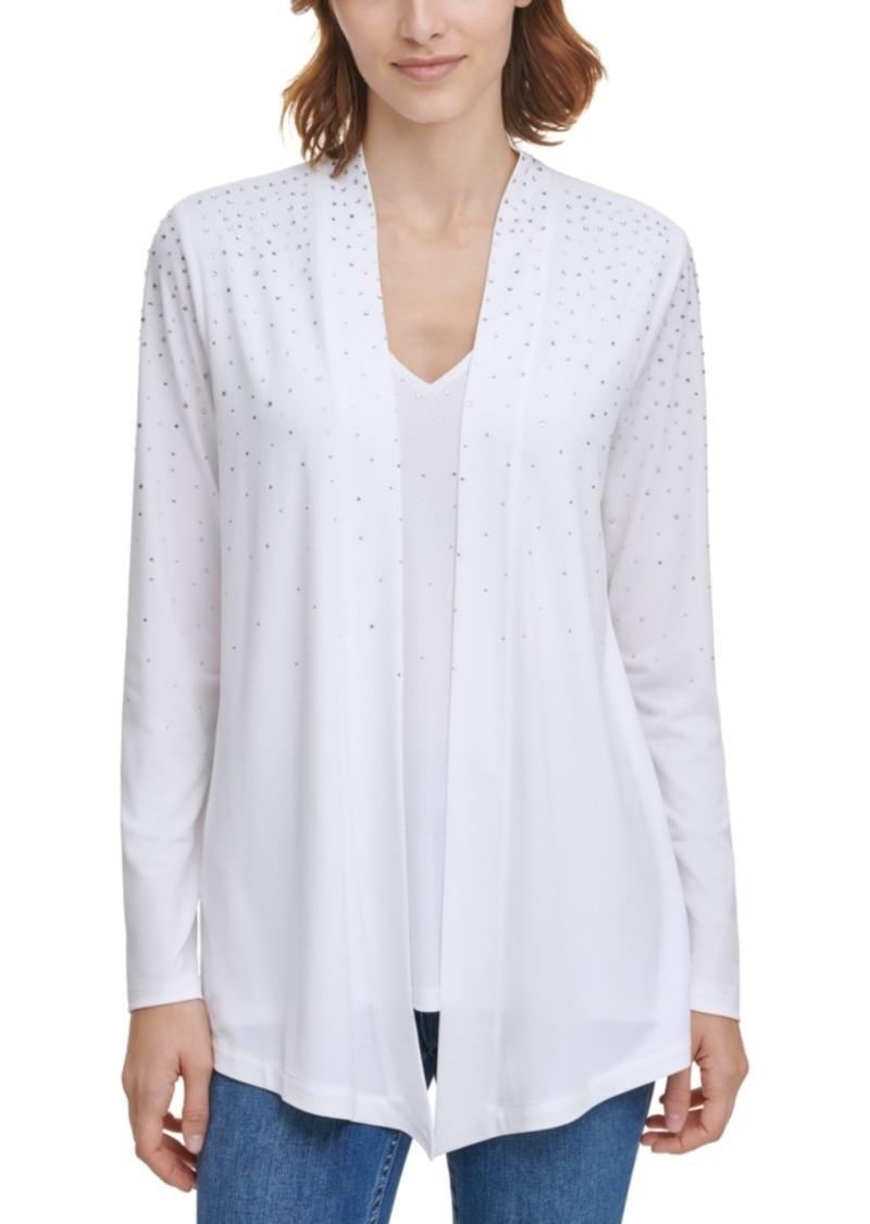 Calvin Klein Rhinestone-Embellished Layered Top