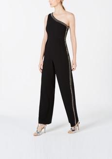 Calvin Klein One-Shoulder Embellished Jumpsuit