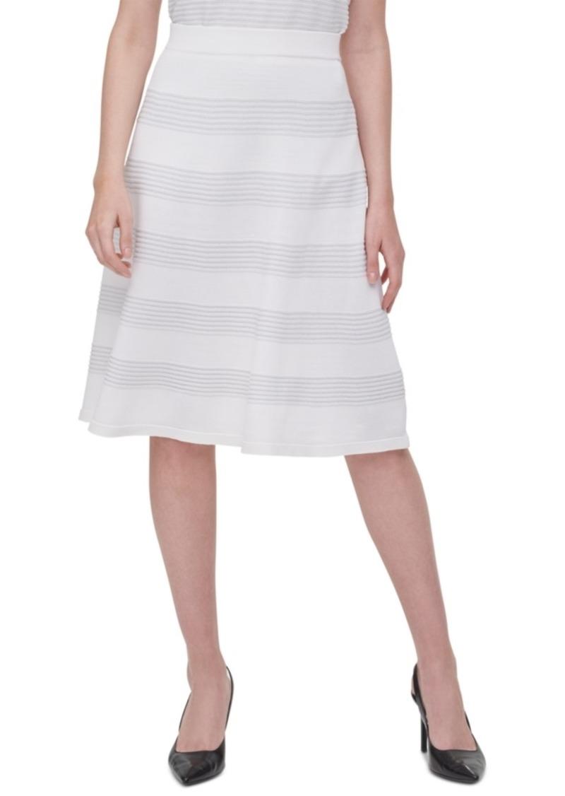 Calvin Klein Rib-Knit A-Line Skirt