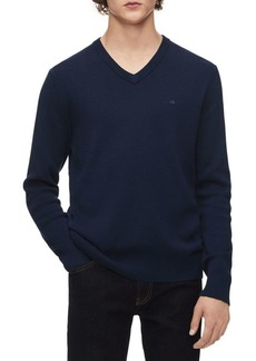 Calvin Klein Rib-Trim V-Neck Sweater