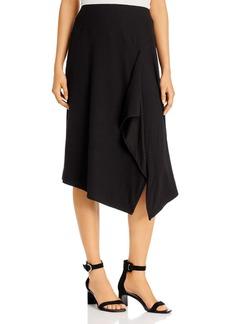 Calvin Klein Ribbed Asymmetric Midi Skirt
