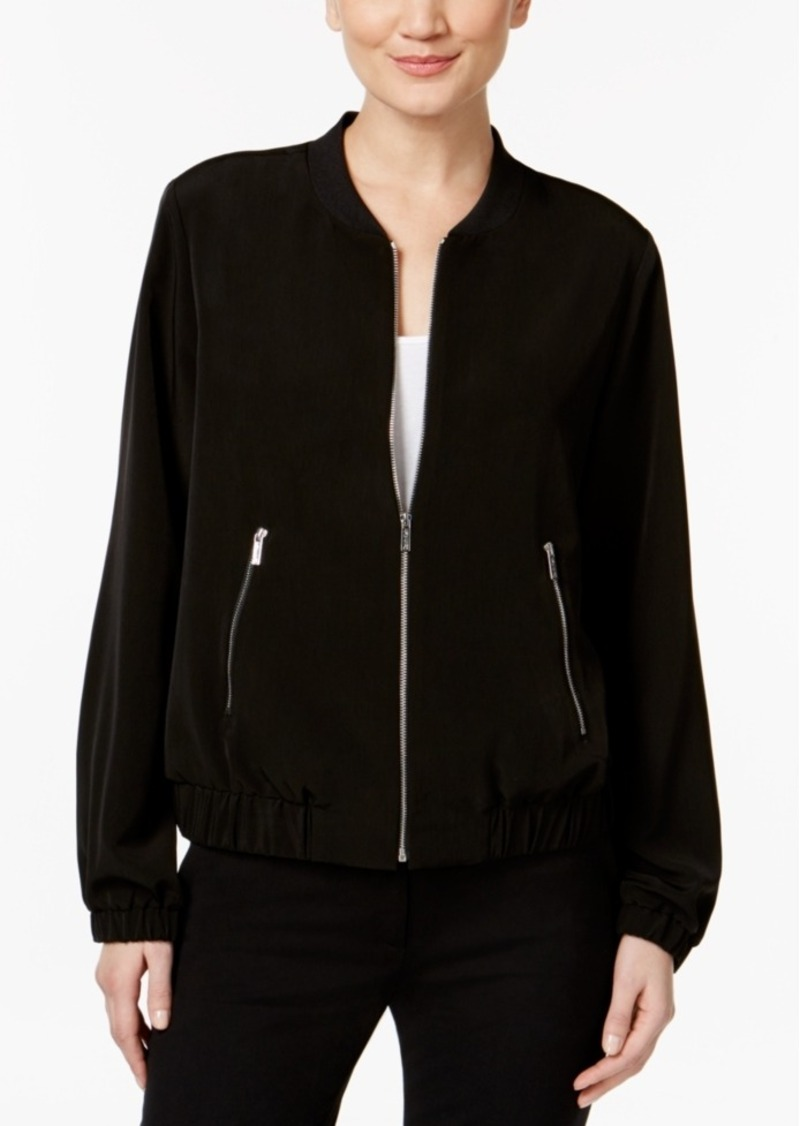 Calvin Klein Ribbed Bomber Jacket