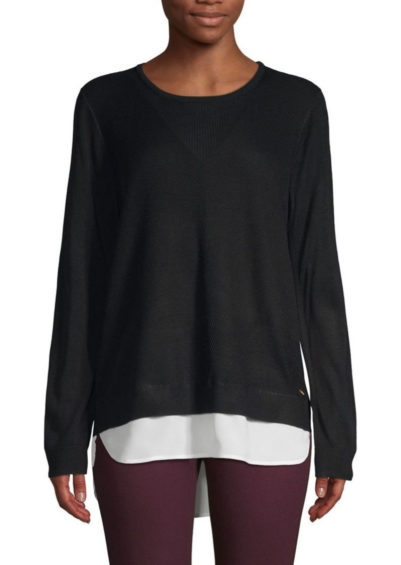 Calvin Klein Ribbed Layered Pullover Sweater