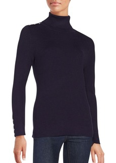 Calvin Klein Ribbed Long Sleeve Turtleneck Sweater