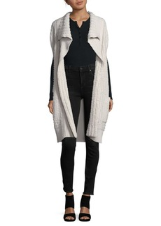 Calvin Klein Ribbed Open Cashmere Sweater