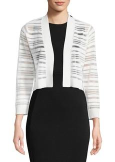 Calvin Klein Ribbed Stripe Long-Sleeve Cardigan