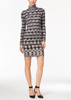 Calvin Klein Ribbed Striped Turtleneck Sheath Dress