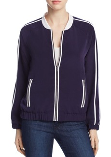 Calvin Klein Ribbed Trim Bomber Jacket