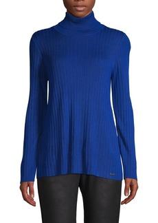 Calvin Klein Ribbed Turtleneck Top