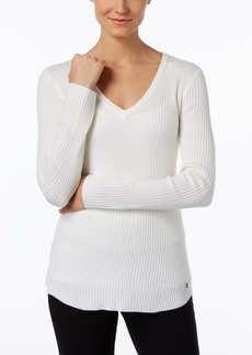 Calvin Klein Ribbed V-Neck Sweater
