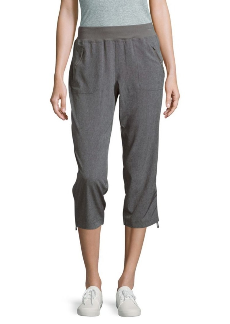 Calvin Klein Ribbed-Waist Tie-Cuff Cropped Pants