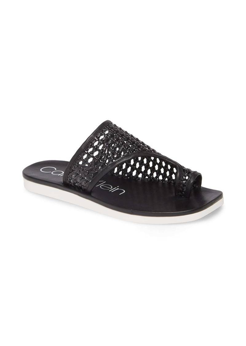 Calvin Klein Rilla Woven Slide Sandal (Women)