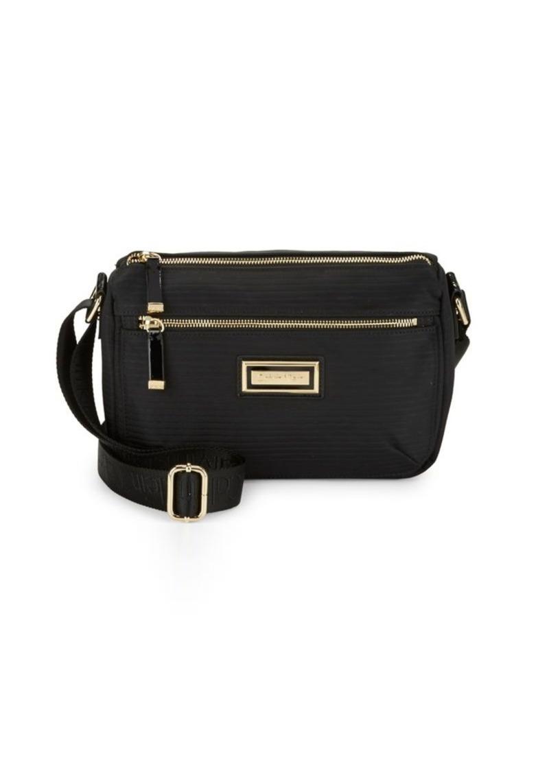 Calvin Klein Calvin Klein Rippled Leather Crossbody Bag   Handbags 646960cbdb