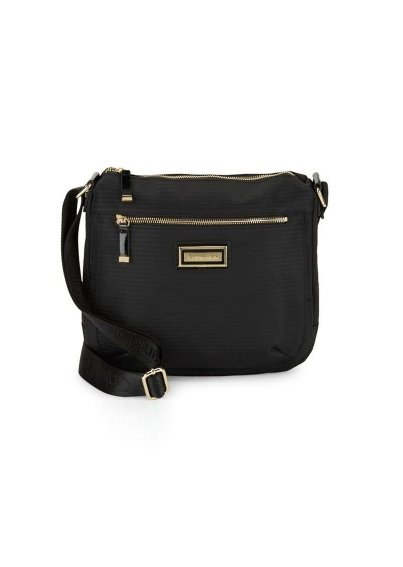 SALE! Calvin Klein Calvin Klein Rippled Leather Crossbody Bag fe7e004d09