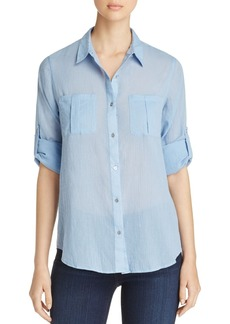 Calvin Klein Roll Sleeve Button-Down Shirt