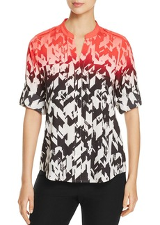 Calvin Klein Roll-Sleeve Print Top