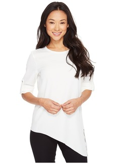 Calvin Klein Roll Sleeve with Angle Bottom Blouse