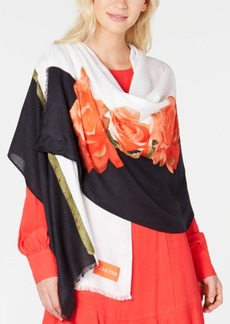Calvin Klein Rose Colorblocked Pashmina