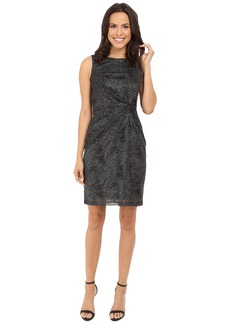 Calvin Klein Round Neck Sleeveless Side Knot Sheath