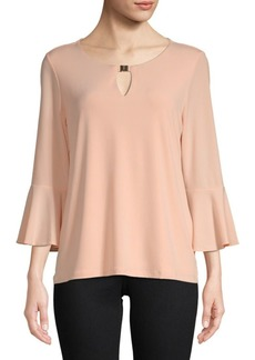 Roundneck Bell-Sleeve Top