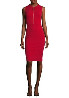 Calvin Klein Roundneck Crepe Dress