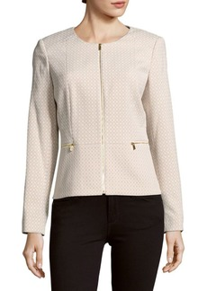 Calvin Klein Roundneck Long-Sleeve Woven Jacket