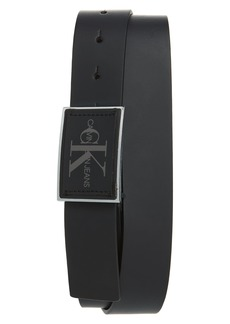 Calvin Klein Rubberized Leather Belt