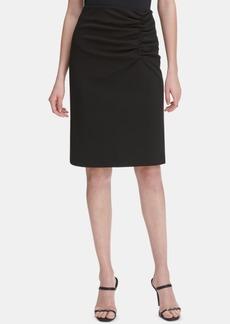 Calvin Klein Ruched Pencil Skirt