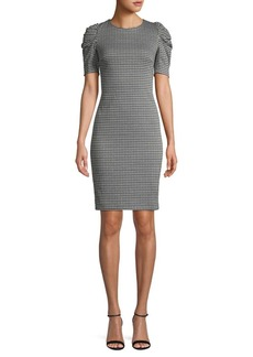 Calvin Klein Ruched-Sleeve Sheath Dress