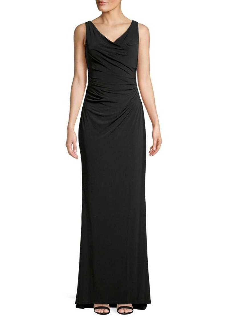 Calvin Klein Ruched Sleeveless Gown