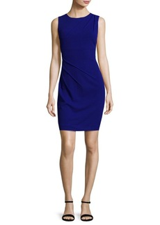 Calvin Klein Ruched Sleeveless Sheath Dress