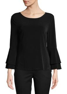 Calvin Klein Ruffle Bell-Sleeve Top