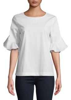 Calvin Klein Ruffle Flare-Sleeve Blouse