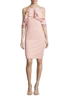 Calvin Klein Ruffle Halter Dress