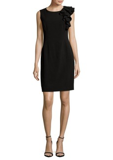 Calvin Klein Ruffle Sheath Dress