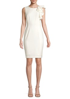 Calvin Klein Ruffle Sheath Dress