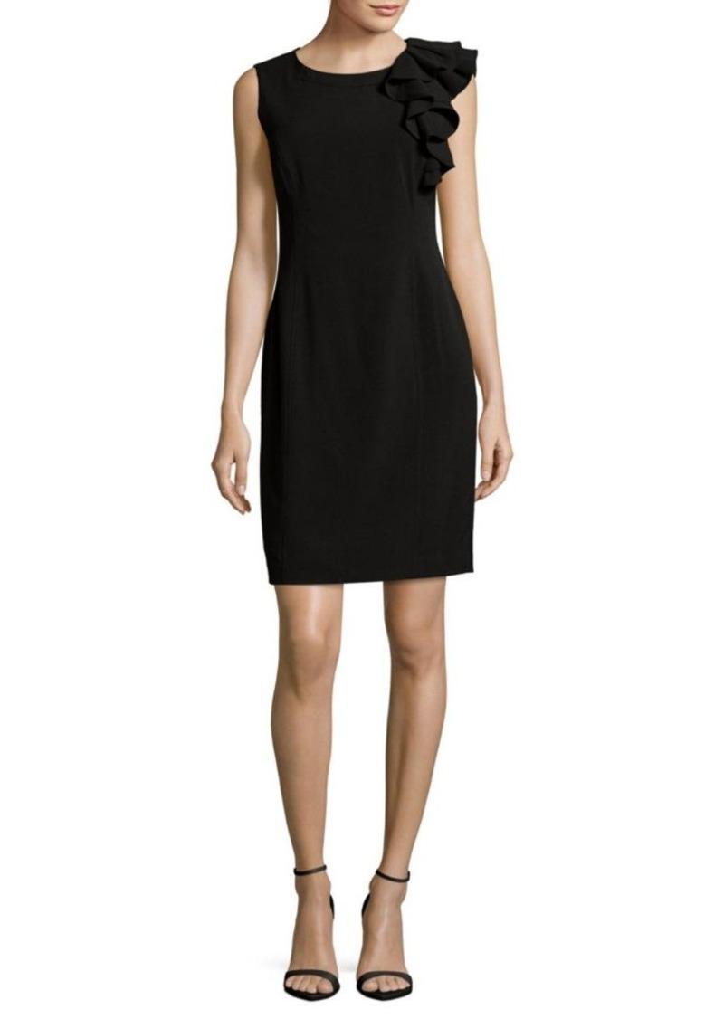 22609c96 Calvin Klein Ruffle Sheath Dress