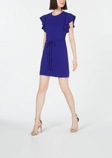 Calvin Klein Ruffle-Sleeve A-line Dress