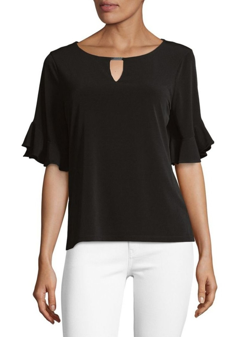Calvin Klein Ruffle-Sleeve Blouse