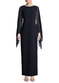 Calvin Klein Ruffle-Sleeve Floor-Length Dress