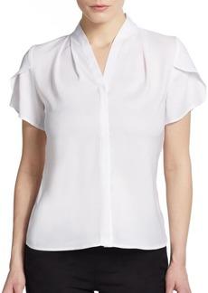 Calvin Klein Ruffle-Sleeve Jersey Blouse