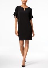 Calvin Klein Ruffle-Sleeve Shift Dress