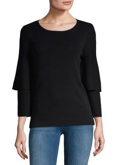 Calvin Klein Ruffle-Sleeve Top