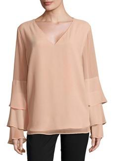 Calvin Klein Ruffle Sleeve Top