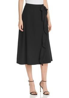 Calvin Klein Ruffle-Trim Midi Skirt