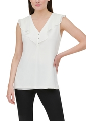 Calvin Klein Ruffle-Trim Sleeveless Top